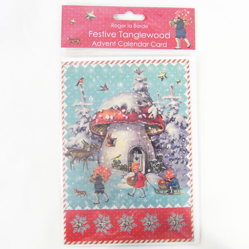 KADERIA Advent Calendar Card TOADSTOOL HO Roger La Borde
