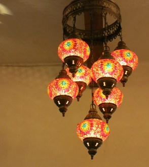 And The Light Shimmers Beautiful Turkey Oriental Pendant Lamp Mosaic Chandelier 7 Rainbow Flowers Ceiling Lighting