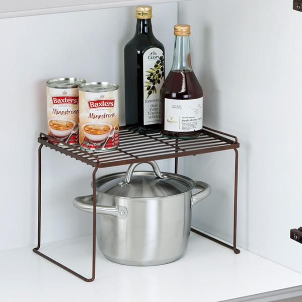 brown kitchen sink islands portable livingut 厨房机架堆叠机架m favier fv34 favie 存储机架厨房存储厨房 组织你的食物和调味品用于组织这类食品在水槽下的 甚至堆码的s l 和m 大小每个时间门在垂直空间有效
