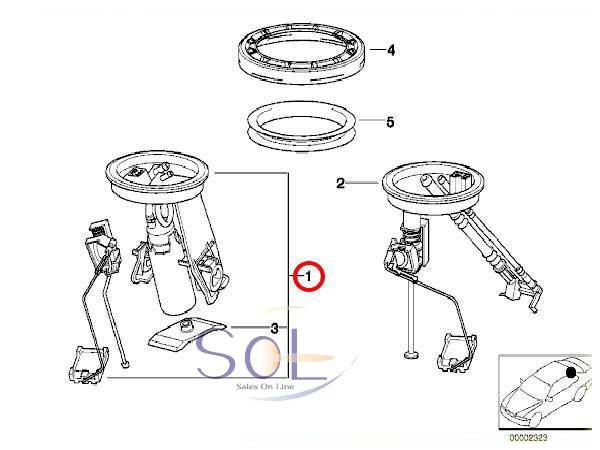 【お1人様1点限り】 E36 BMW 燃料ポンプ 228222005001Z 16141182843