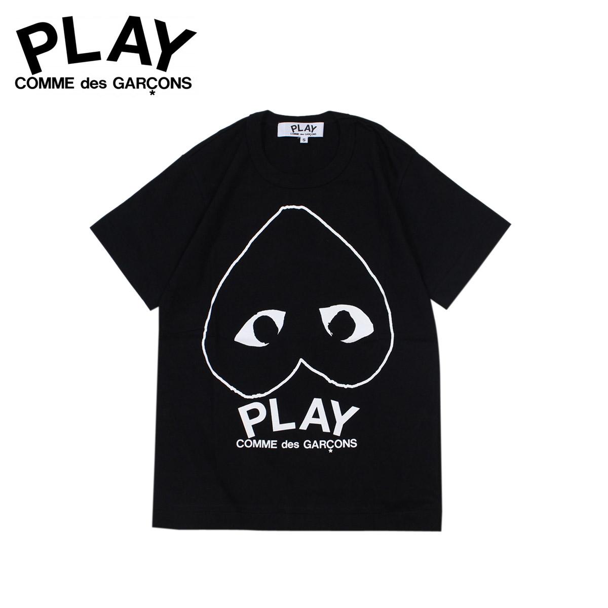 Sugar Online Shop: COMME des GARCONS PLAY T-shirt short sleeves コムデギャルソンレディース PLAY LOGO T-SHIRT AZ-T113 black black ...