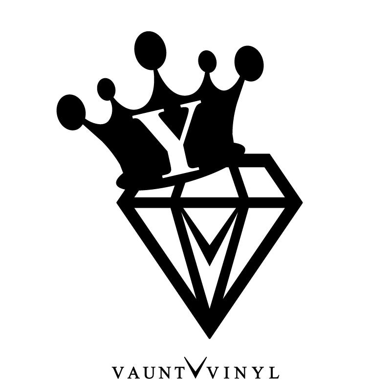 VAUNT VINYL sticker store: Diamond initials Y cutting