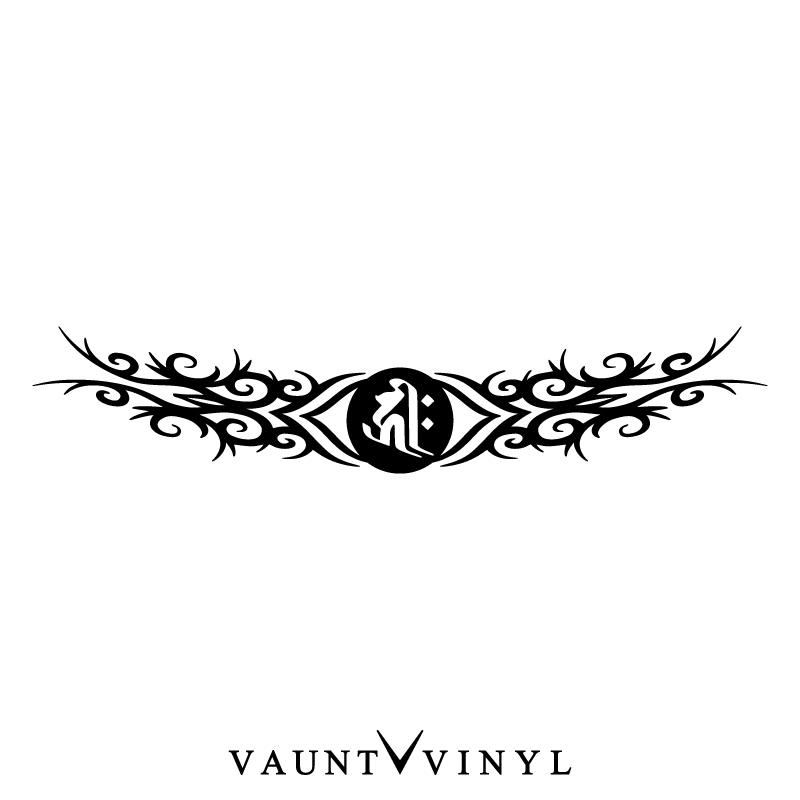 VAUNT VINYL sticker store: Sanskrit characters tribal