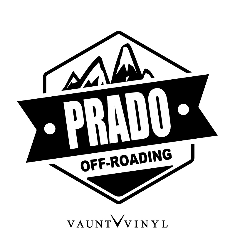 VAUNT VINYL sticker store: OFF ROADING PRADO Prado cutting