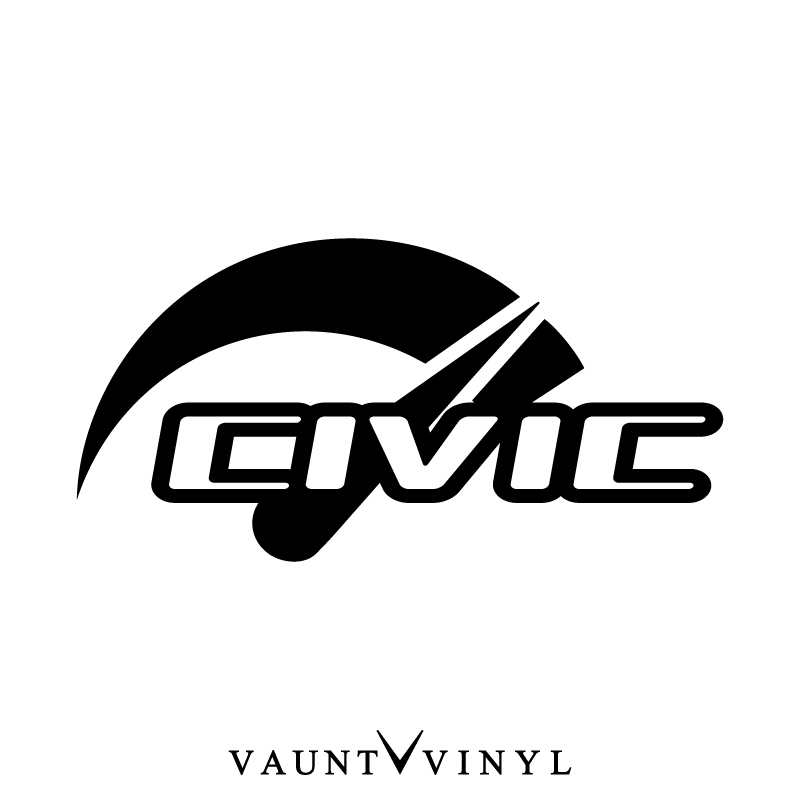 VAUNT VINYL sticker store: Speed CIVIC civic sticker civic