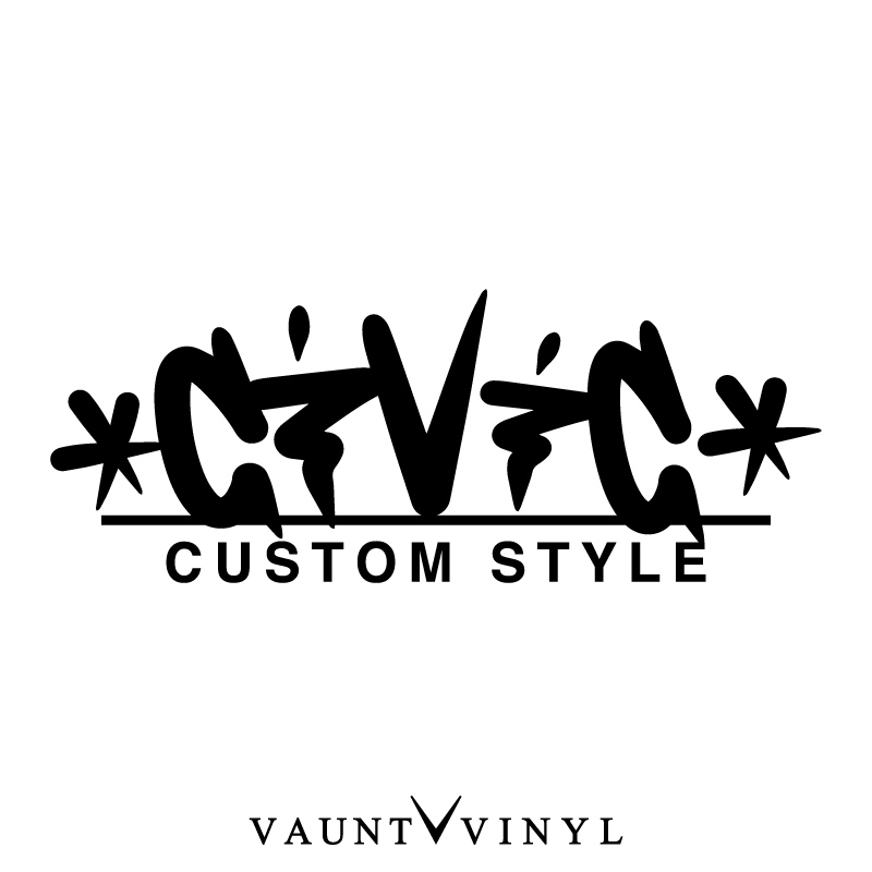 VAUNT VINYL sticker store: Civic CUSTOM STYLE cutting