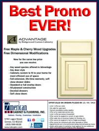Best Promo EVER! Advantage by Bridgewood Custom  Cabinetry