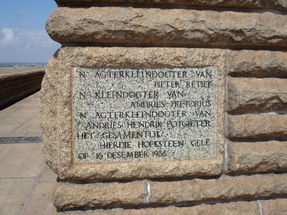 The Voortrekker Monument 62 years on (2/6)