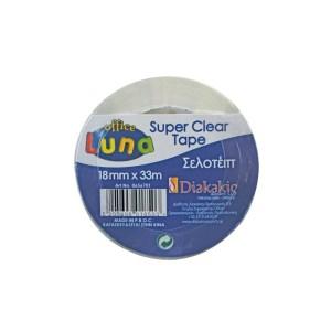 ΣΕΛΟΤΕΙΠ SUPER CLEAR 15MMx33M LUNA OFFICE