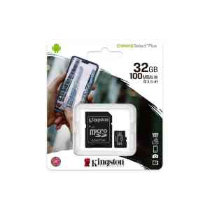 Kingston memory card microSDHC Canvas Select Plus 32GB class 10 UHS I 100 MBs adapter 3