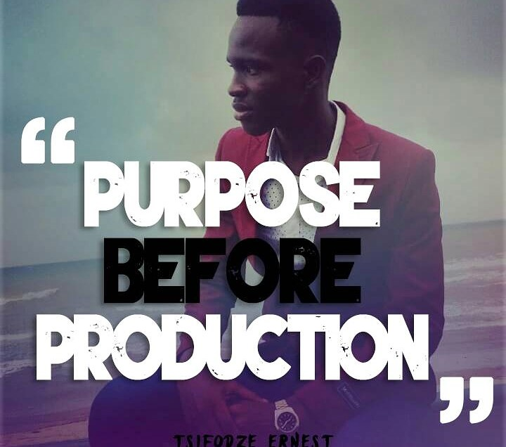 Purpose Before Production