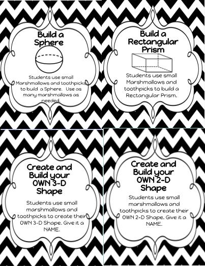 3-D Figures Building Challenge Task Cards!