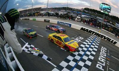 Joey Logano Scores 20th Career Win at Martinsville in Thriller over Hamlin and Truex