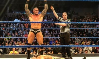 Randy Orton toppled AJ Styles, after Styles eliminated Kofi from the Gauntlet match