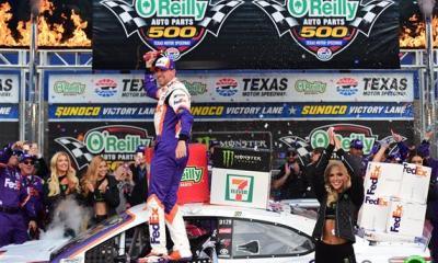 Denny Hamlin Wins at Texas After Multiple Penalties