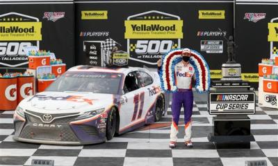 Denny Hamlin Wins Historically-Chaotic Talladega Race