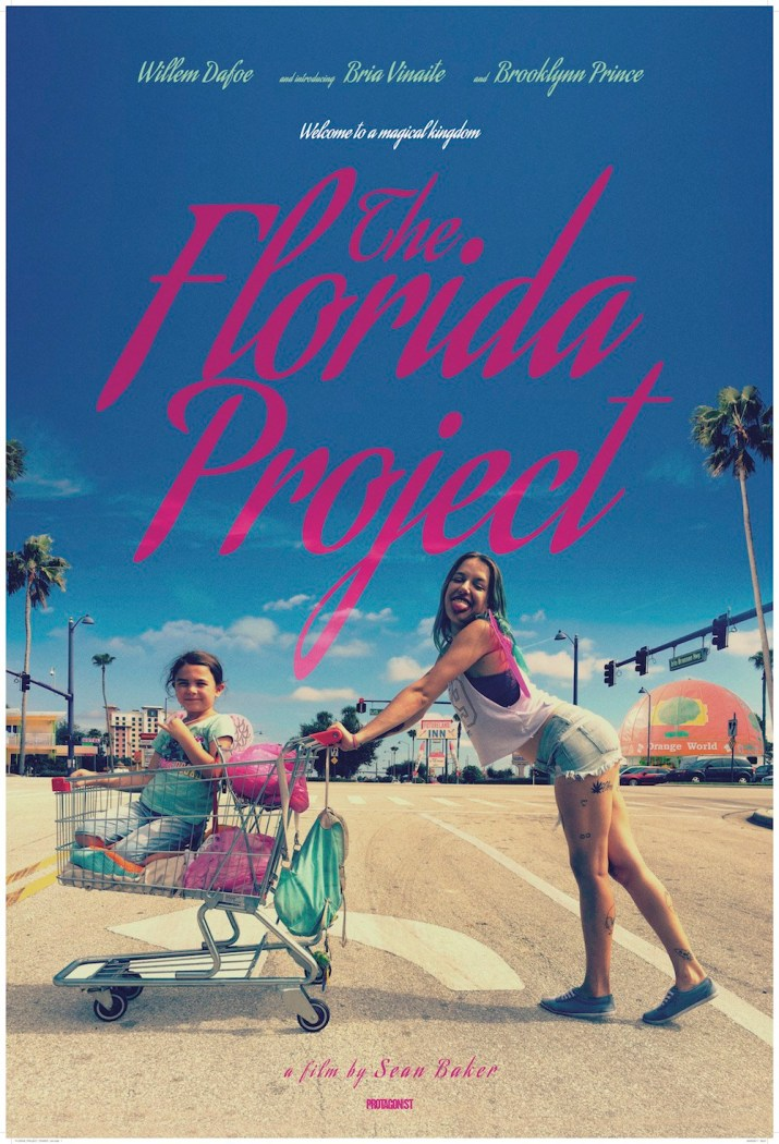 The movie poster for The Florida Project