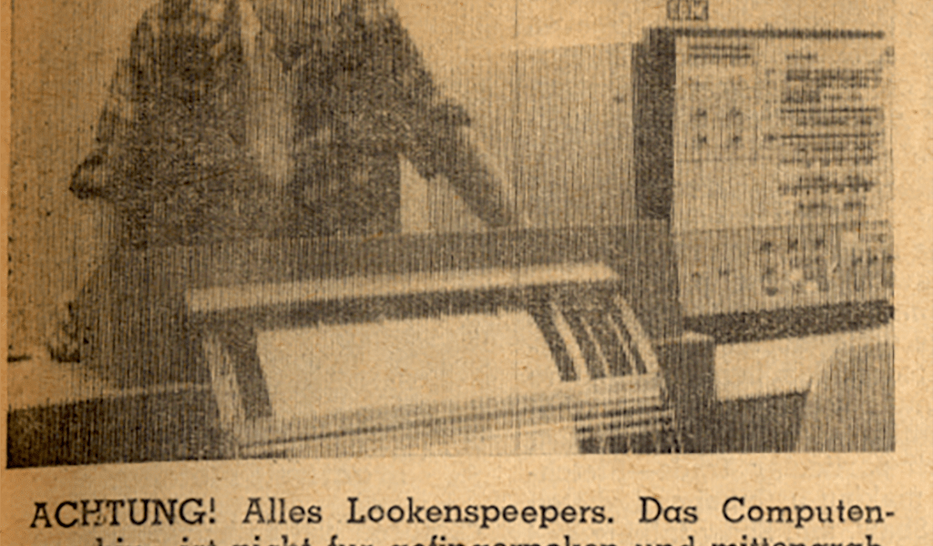 """A 1965 issue of The Student Life reported on Pomona College's """"third generation"""" computer."""