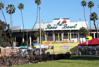 The front of the Rose Bowl