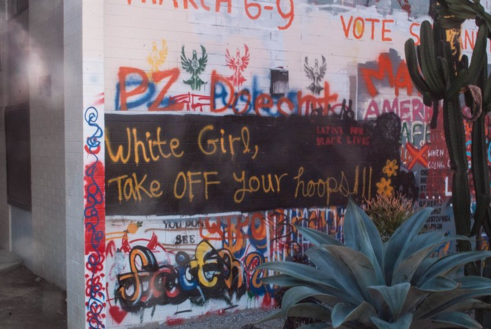 The free speech wall at Pitzer