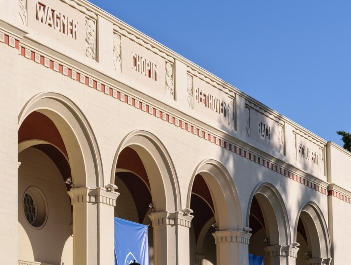 top-of-building-with-arches-and-names-of-classical-musicians