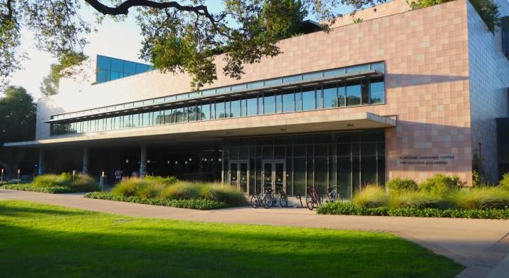 Harvey Mudd College's Shanahan Center during sunset