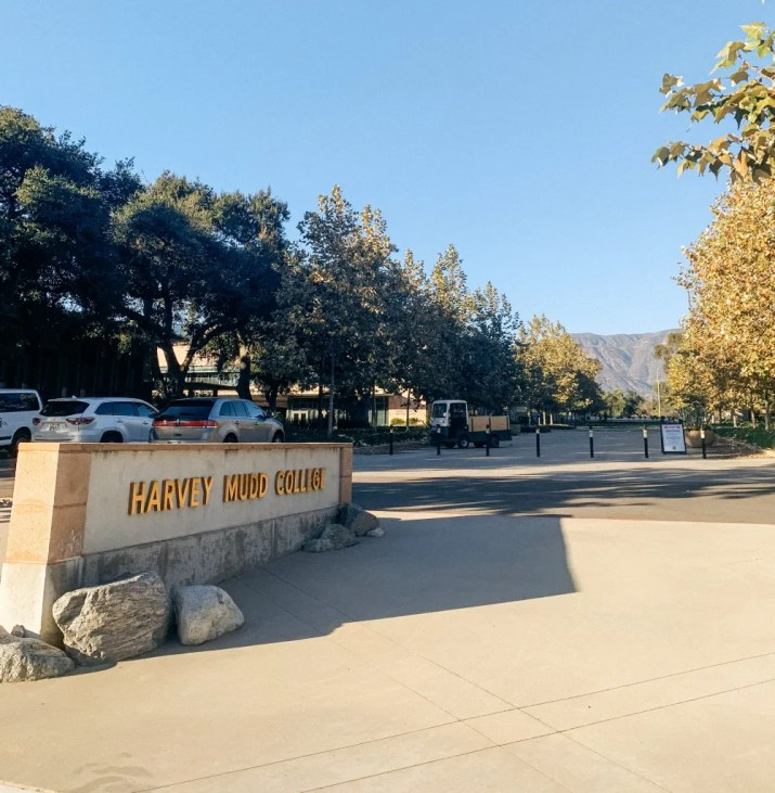 A sign of Harvey Mudd College