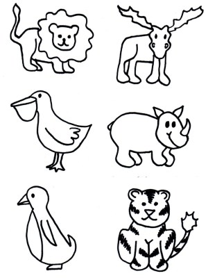 zoo animal animals clip clipart patterns cut shapes texas crafts wild coloring line projects rubbings materials toddler state