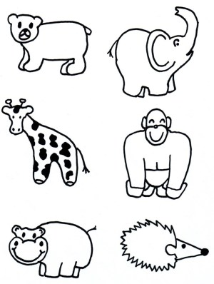 animals animal zoo draw cut shapes coloring drawings wild easy drawing pages clipart jungle sketches clip cartoon toddler a3 pets