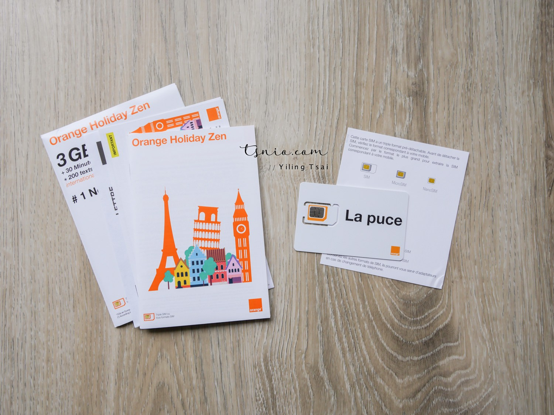 歐洲上網卡推薦 Orange Holiday 預付卡 可撥打國際電話 - 蔡小妞依玲