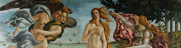 Botticelli - Birth of Venus, header