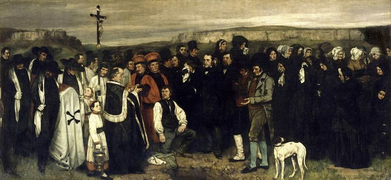 Gustave Courbet - A Burial At Ornans