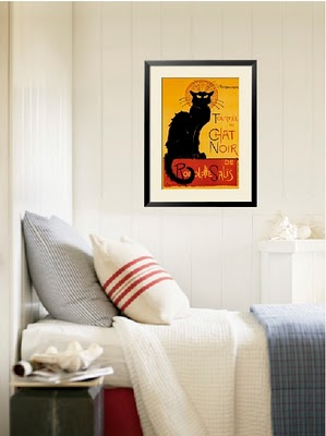 art-animals-vintage-poster-chat-noir