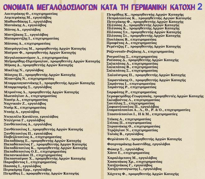 ΔΟΣΙΛΟΓΟΙ ΓΕΡΜΑΝΙΚΗΣ ΚΑΤΟΧΗΣ 2