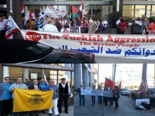 ΝΙΚΗ του Συνασπισμού Κινημάτων έξω από το Τούρκικο Προξενείο Λος Άντζελες, η απελευθέρωση των Μοναχών.
