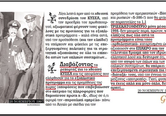 ΕΞΟΠΛΙΣΤΙΚΑ 1997 - 2
