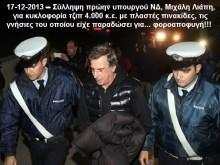 Σύλληψη και ποινική δίωξη για ψευδή βεβαίωση και πλαστογραφία κατά του Μιχ. Λιάπη