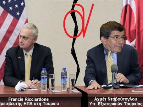 ΝΤΑΒΟΥΤΟΓΛΟΥ με Francis Ricciardone ΗΠΑ