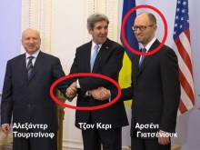"""Μπαχλέμπης και ο νεοναζί, εγκάθετος από το ΝΑΤΟ, """"πρωθυπουργός"""" της Ουκρανίας!!!"""