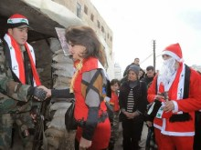 Οι Χριστιανοί της Συρίας την μέρα των Χριστουγέννων τίμησαν τους προστάτες της πατρίδας τους!