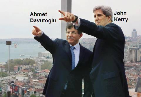 Ahmet Davutoglu - John Kerry