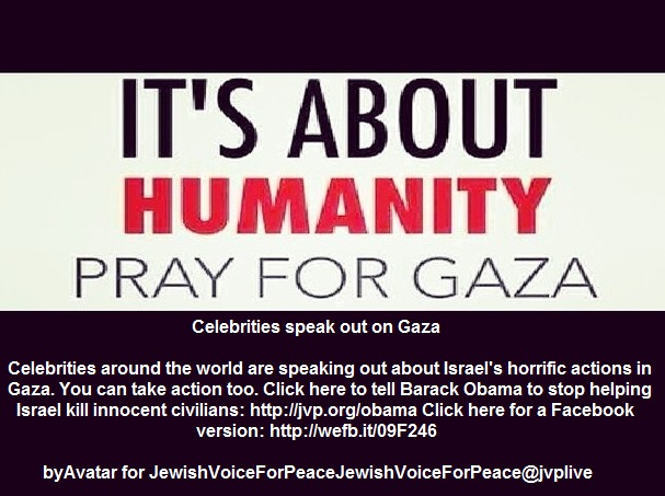 Celebrities speak out on Gaza