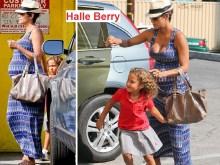 Όμορφη σε προχωρημένη εγκυμοσύνη η Halle Berry…..