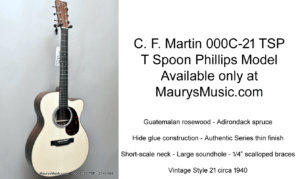 T Spoon Phillips Martin Guitar Exclusive