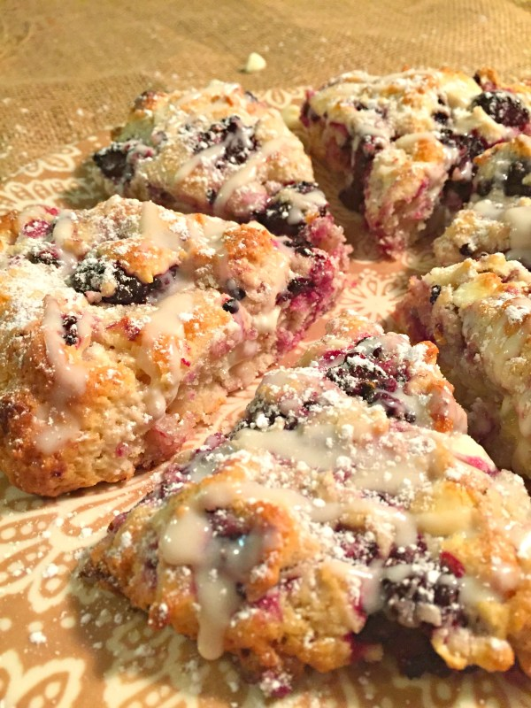 plate of scones close up