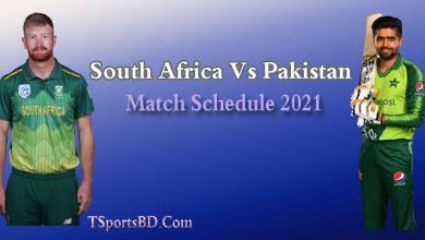 Cricket Mattch Schedule