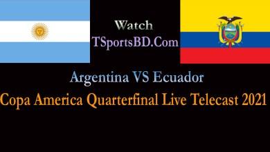 Argentina VS Ecuadar Live Match 2021