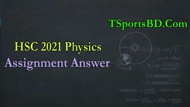 HSC Physics Assignment 2021