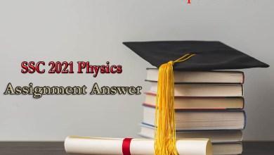 SSC Physics Assignment