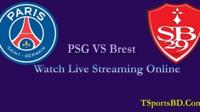 PSG VS Brest Live Streaming